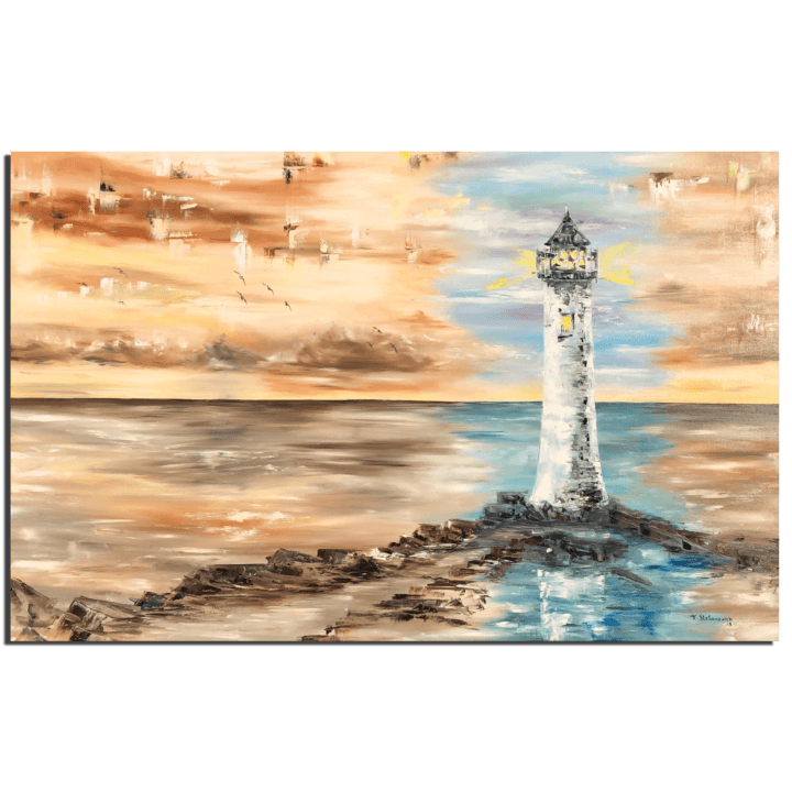 Lighthouse colorless by Tanya Stefanovich